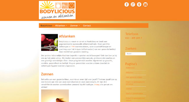 Webdesign / Webdevelopment bodylicious.nu