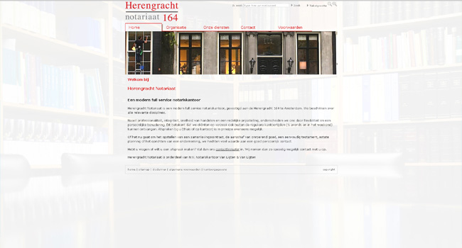 Webdesign / Webdevelopment herengrachtnotariaat.nl