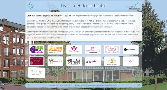 Webdesign / Webdevelopment livelifedancecenter.nl